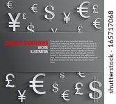 currency symbol with space for... | Shutterstock .eps vector #165717068