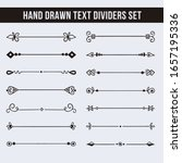 text dividers. hand drawn... | Shutterstock .eps vector #1657195336