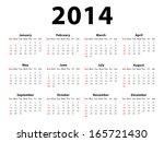 calendar 2014 | Shutterstock .eps vector #165721430