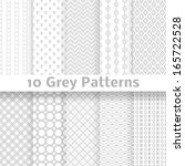 10 grey vector seamless... | Shutterstock .eps vector #165722528