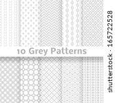 10 Grey Vector Seamless...