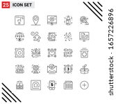 pixle perfect set of 25 line...   Shutterstock .eps vector #1657226896