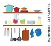 kitchen equipment icon image... | Shutterstock .eps vector #1657239643