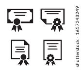 certificate icon set. vector...