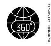 360 view black icon  concept... | Shutterstock .eps vector #1657254766