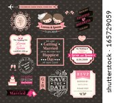 wedding elements labels and...