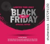 black friday sale banner for... | Shutterstock .eps vector #1657291150