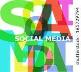 social media   vector abstract...   Shutterstock .eps vector #165729794