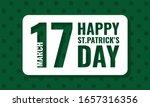 happy st. patrick's day  vector ... | Shutterstock .eps vector #1657316356