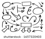 business arrows hand drawn... | Shutterstock .eps vector #1657320403