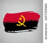 flag of angola  from brush...