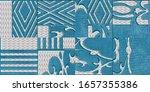 colorful digital wall tiles... | Shutterstock . vector #1657355386