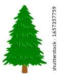 vector green coniferous tree....
