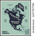 map north america. poster map... | Shutterstock .eps vector #1657357780