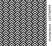 black and white chevron... | Shutterstock .eps vector #165736949