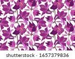 vector floral seamless pattern... | Shutterstock .eps vector #1657379836