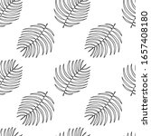 seamless pattern with hand... | Shutterstock .eps vector #1657408180