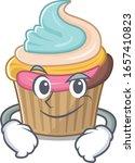 cool rainbow cupcake mascot... | Shutterstock .eps vector #1657410823