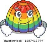 cool rainbow jelly mascot... | Shutterstock .eps vector #1657413799