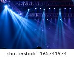 vector stage spotlight with... | Shutterstock . vector #165741974