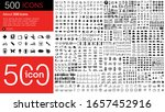 set of 500 media icon arrow ...   Shutterstock .eps vector #1657452916