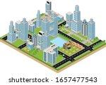 megapolis 3d isometric three... | Shutterstock .eps vector #1657477543