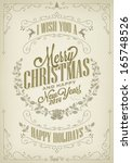 vintage merry christmas and... | Shutterstock .eps vector #165748526