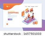 isometric kids online shopping...