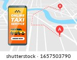smartphone with online taxi... | Shutterstock .eps vector #1657503790