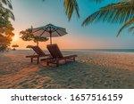 Romantic Beach Scenery  Summer...