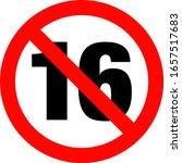 no under sixteen entry badge | Shutterstock .eps vector #1657517683