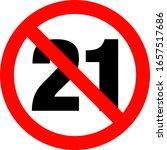 no under twenty ones entry badge | Shutterstock .eps vector #1657517686