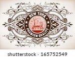 Retro Banner. Old Train...