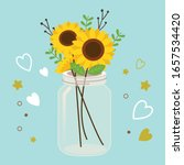 The Sunflower In The Glass Jar...