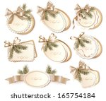 set of beautiful golden... | Shutterstock .eps vector #165754184