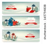 christmas winter banners with...