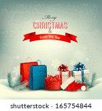 christmas winter background... | Shutterstock .eps vector #165754844
