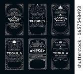 vintage ornate labels set with... | Shutterstock .eps vector #1657548493