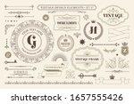 vintage typographic design... | Shutterstock .eps vector #1657555426