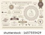 vintage typographic design... | Shutterstock .eps vector #1657555429