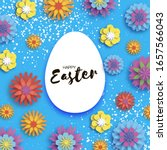 colorful happy easter. white...   Shutterstock .eps vector #1657566043