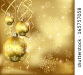 christmas background with... | Shutterstock . vector #165757058