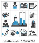 education icons. vector set for ... | Shutterstock .eps vector #165757286
