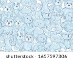 teddy bears  hare and dogs...   Shutterstock .eps vector #1657597306