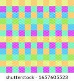 Polka Dot Checkered Background...