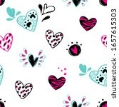 abstract seamless hearts... | Shutterstock .eps vector #1657615303