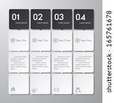 design clean number banners... | Shutterstock .eps vector #165761678
