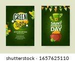 set of poster designs for st.... | Shutterstock .eps vector #1657625110