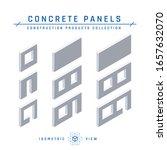 concrete panel icons. precast... | Shutterstock .eps vector #1657632070