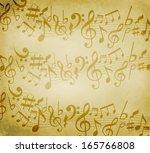 old grunge music background...   Shutterstock . vector #165766808